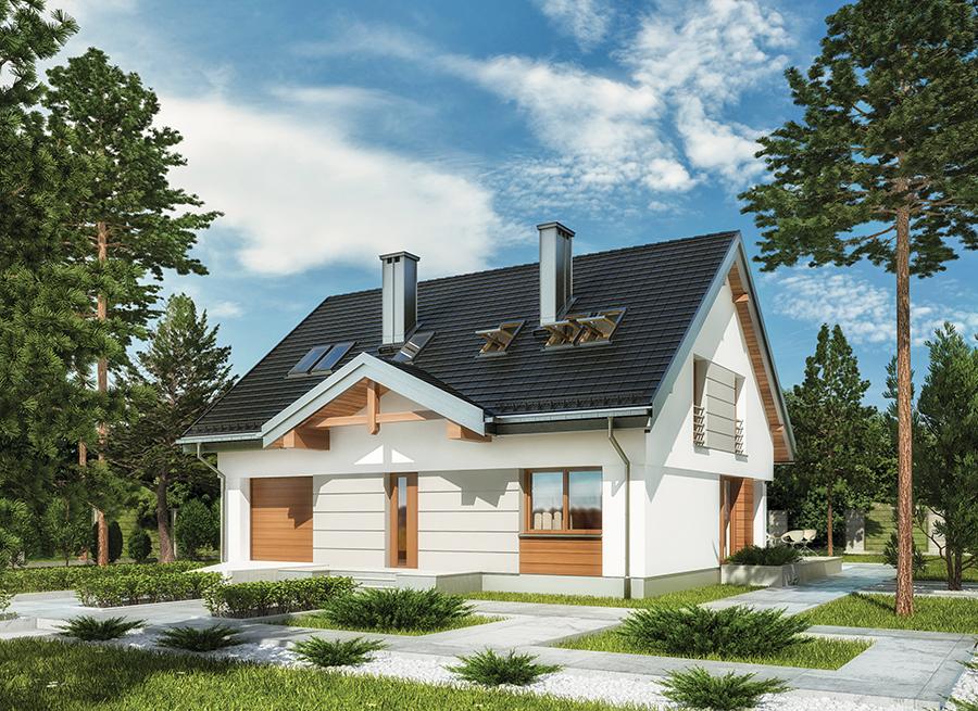 Projekt M188 Pastelowa Tecza Birylo Architekci